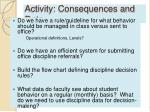 activity consequences and data
