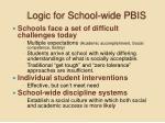 logic for school wide pbis