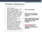 problem behaviors