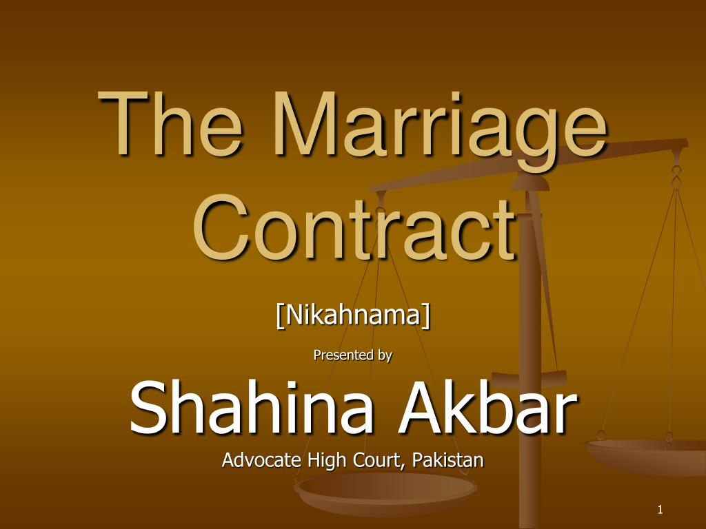 the marriage contract l.