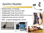 synchro nozzles