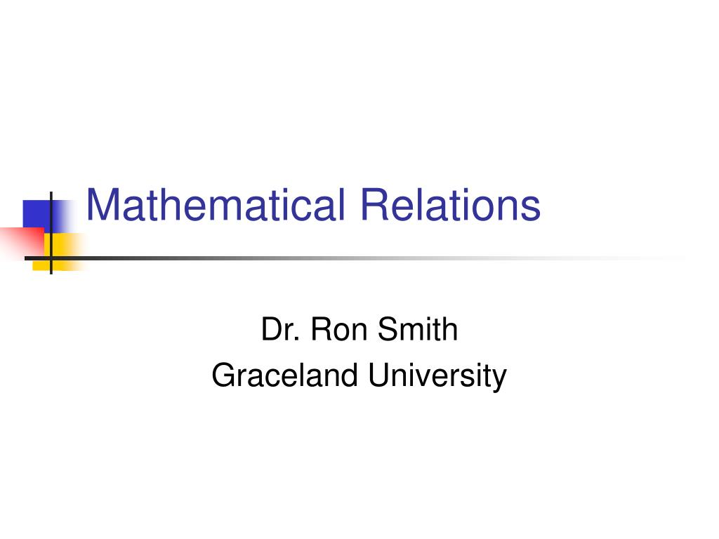 mathematical relations l.