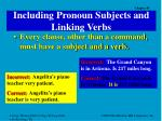 including pronoun subjects and linking verbs