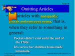 omitting articles