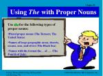 using the with proper nouns13