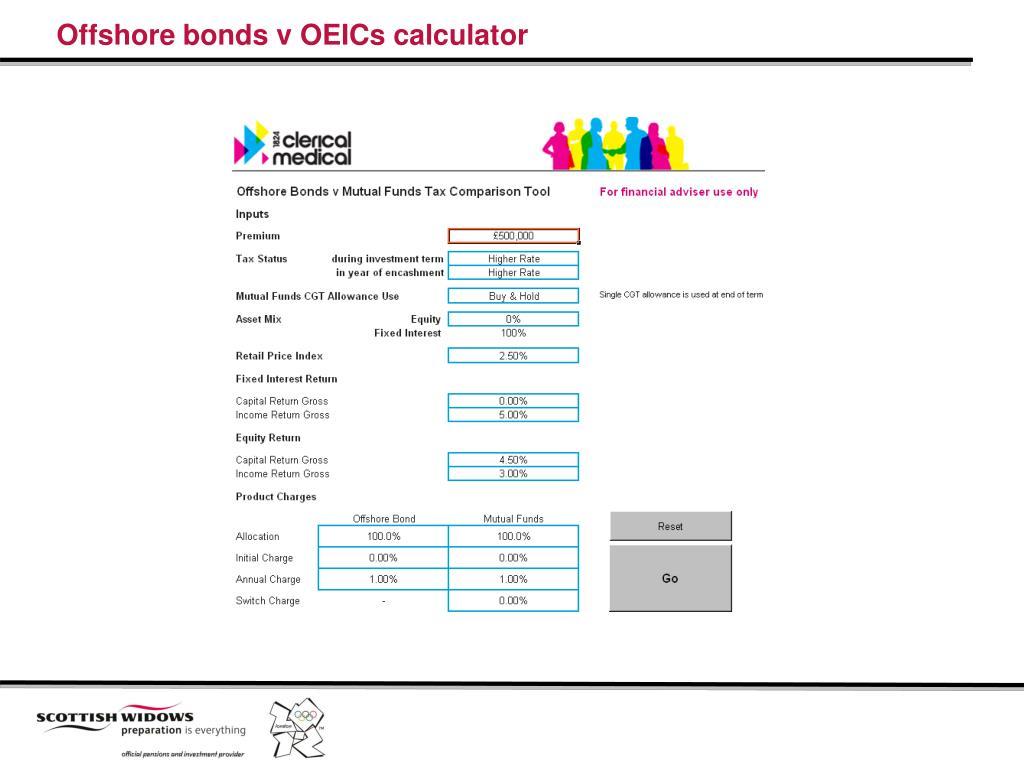 Offshore bonds v OEICs calculator