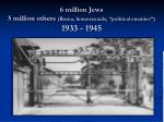 6 million jews 5 million others roma homosexuals political enemies 1933 1945