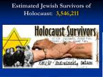estimated jewish survivors of holocaust 3 546 211
