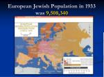 european jewish population in 1933 was 9 508 340