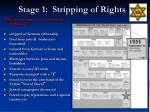 stage 1 stripping of rights