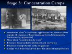 stage 3 concentration camps