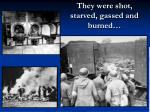 they were shot starved gassed and burned