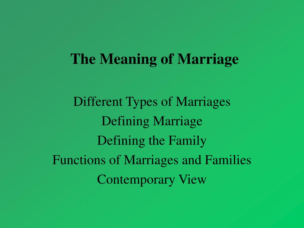 the meaning of marriage l.