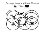 coverage areas in a sensor network