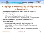 campaign brief monitoring testing and tool enhancements