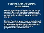 formal and informal assessment