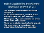 hoshin assessment and planning statistical analysis at lc