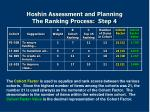 hoshin assessment and planning the ranking process step 4