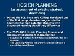 hoshin planning as assessment of existing strategic directions