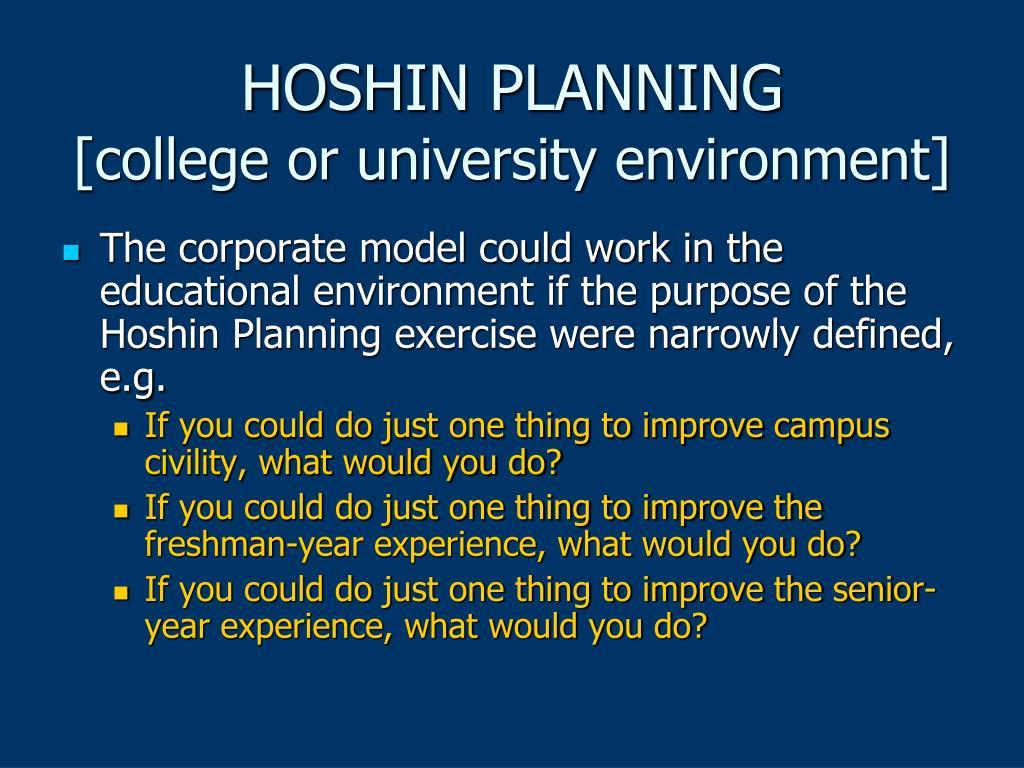 HOSHIN PLANNING