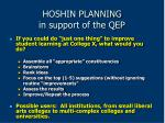 hoshin planning in support of the qep