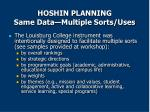 hoshin planning same data multiple sorts uses