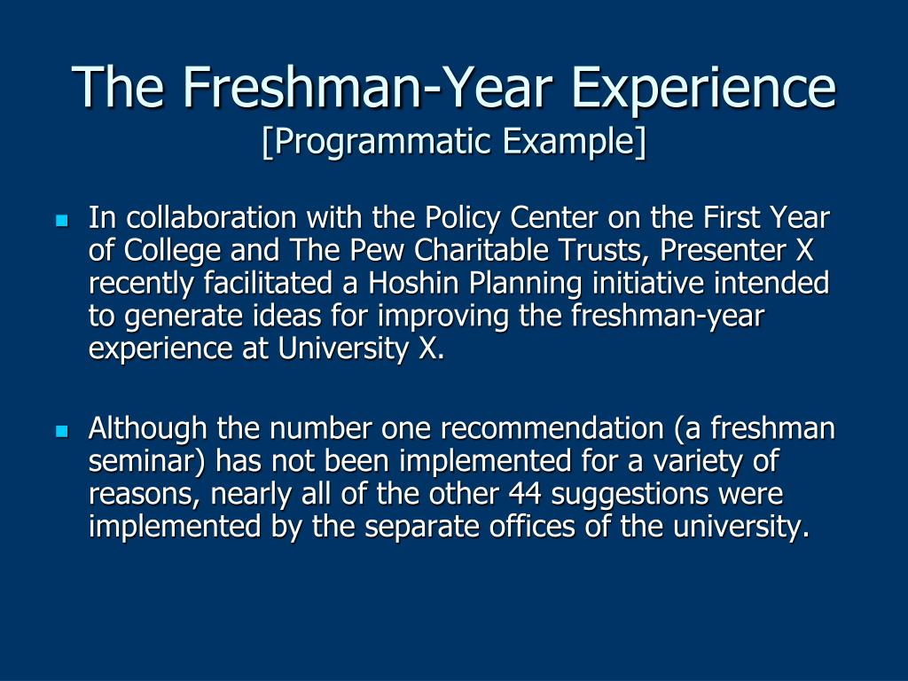 The Freshman-Year Experience