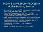 today s workshop process b hoshin planning exercise