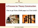 a process for theory construction
