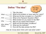 define the idea