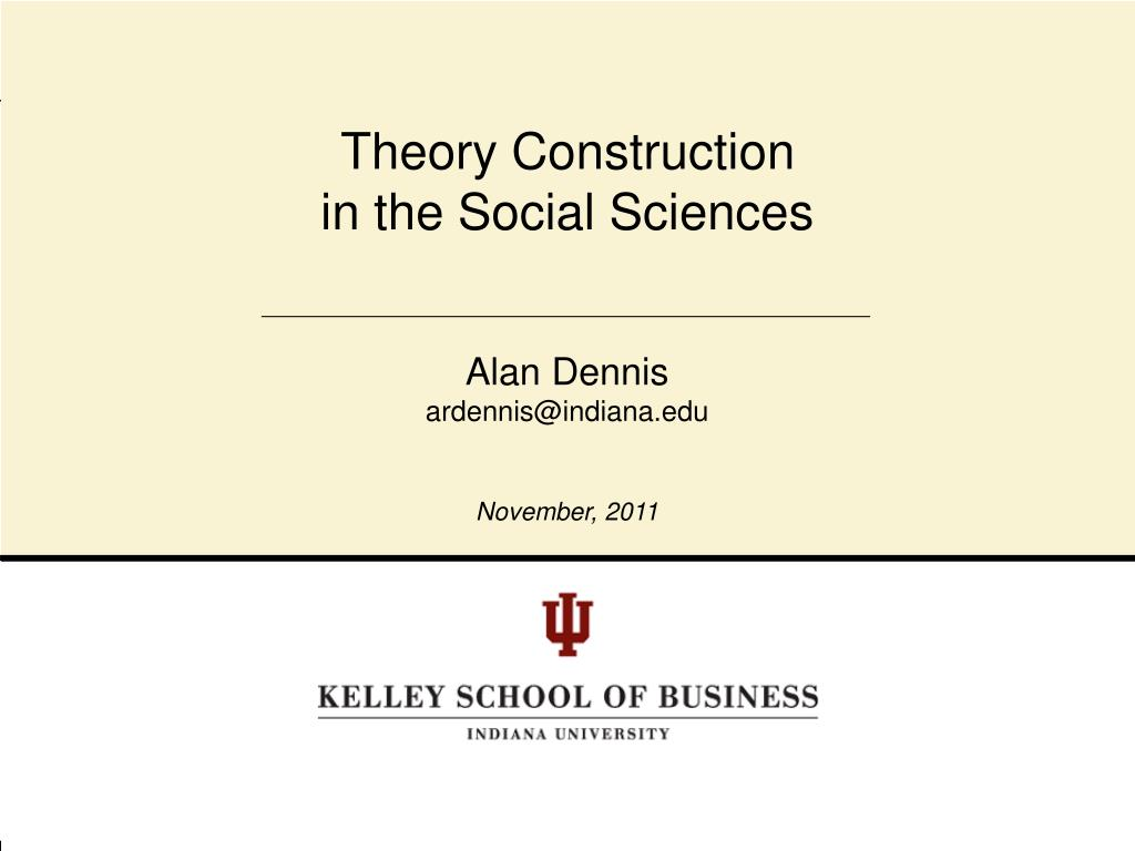 theory construction in the social sciences l.