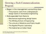 growing a tech commercialization program