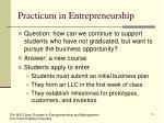 practicum in entrepreneurship