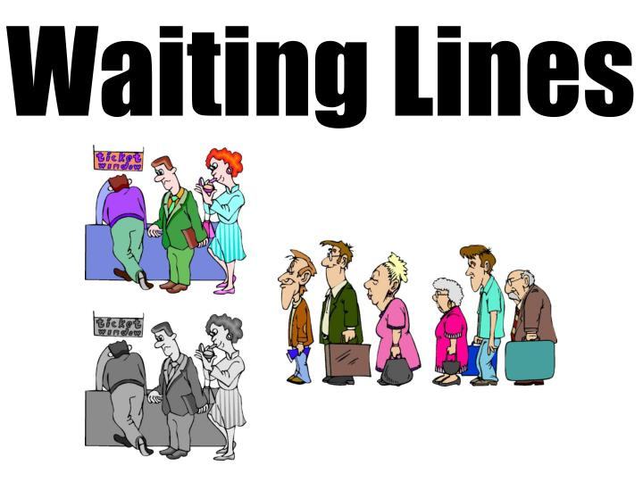 waiting lines Related wordssynonymslegend: switch to new thesaurus noun 1 waiting line - a line of people or vehicles waiting for something queue line - a formation of people or things one behind another the line stretched clear around the corner you must wait in a long line at the checkout counter bread line, breadline - a queue of people waiting for.