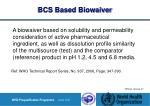 bcs based biowaiver