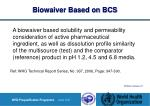 biowaiver based on bcs