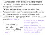 structures with pointer components