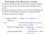 traversing a list recursive version