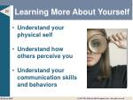 learning more about yourself