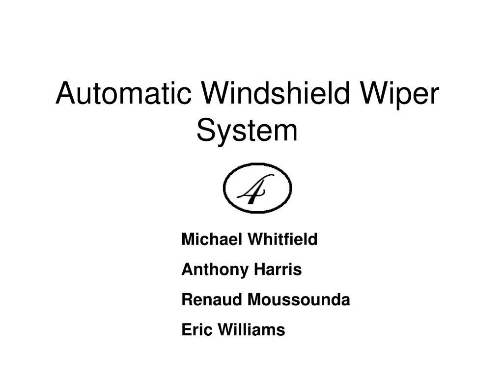 automatic windshield wiper system l.