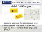 metal foil gauges