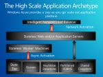 the high scale application archetype
