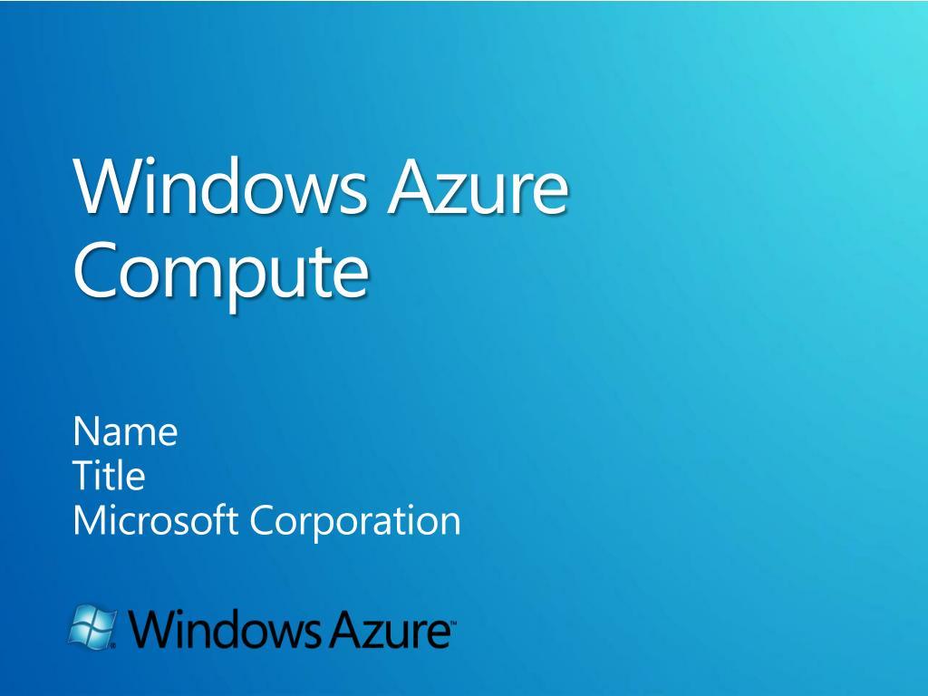 windows azure compute l.