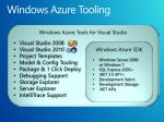 windows azure tooling