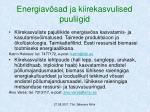 energiav sad ja kiirekasvulised puuliigid