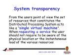 system transparency