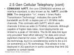 2 5 gen cellular telephony cont