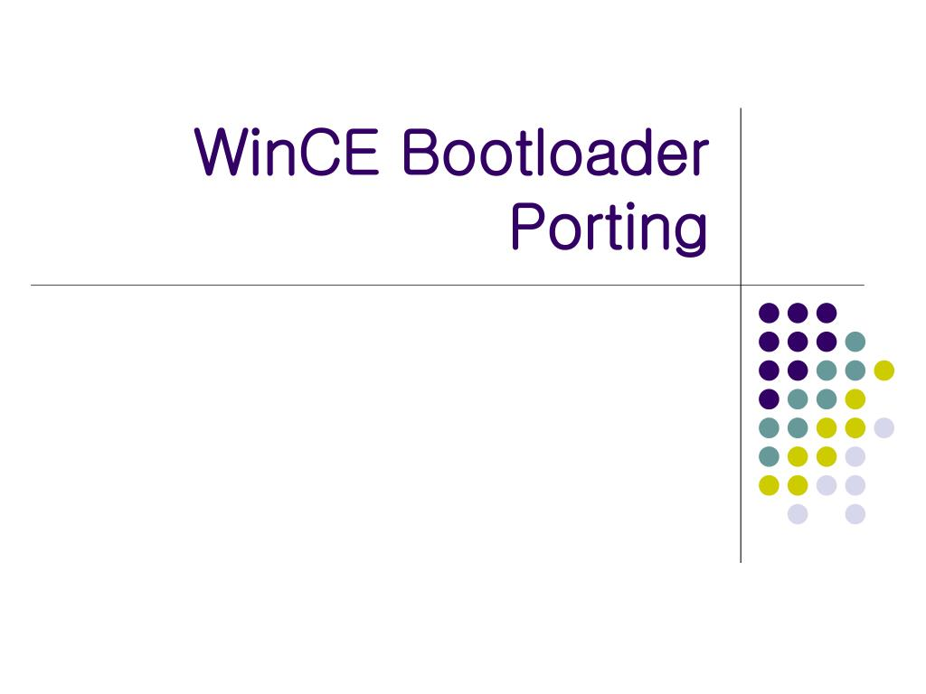 wince bootloader porting l.