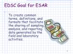 edsc goal for esar