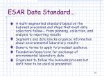 esar data standard